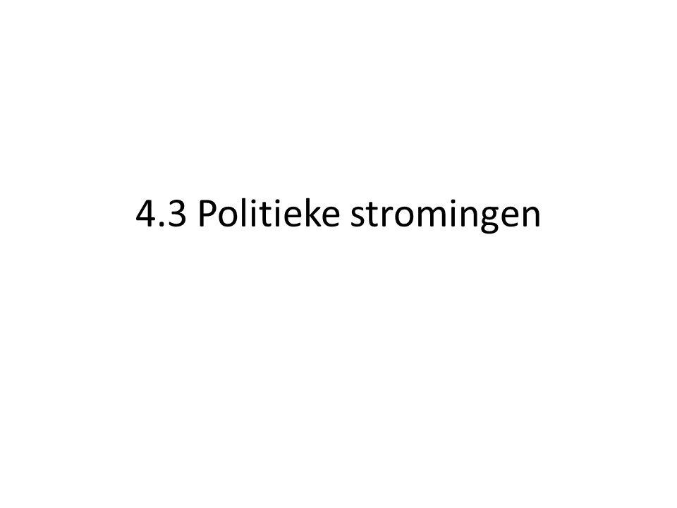 4.3 Politieke stromingen