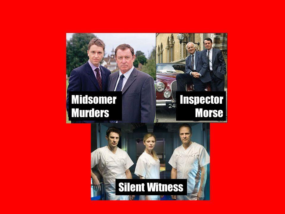 Baantjer Midsomer Murders Inspector Morse Silent Witness