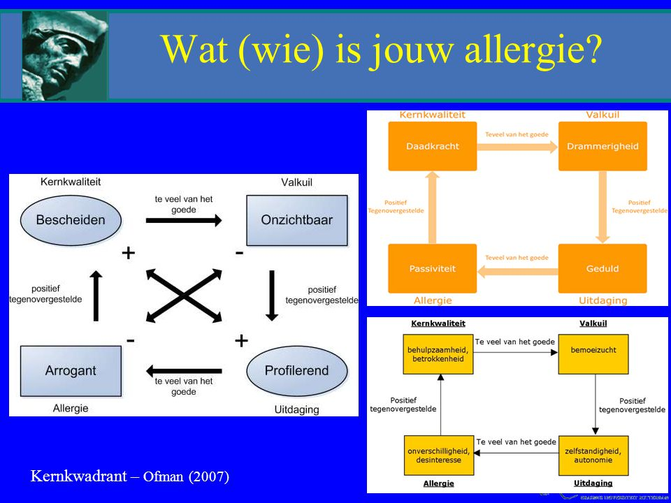 Kernkwadrant – Ofman (2007) Wat (wie) is jouw allergie?