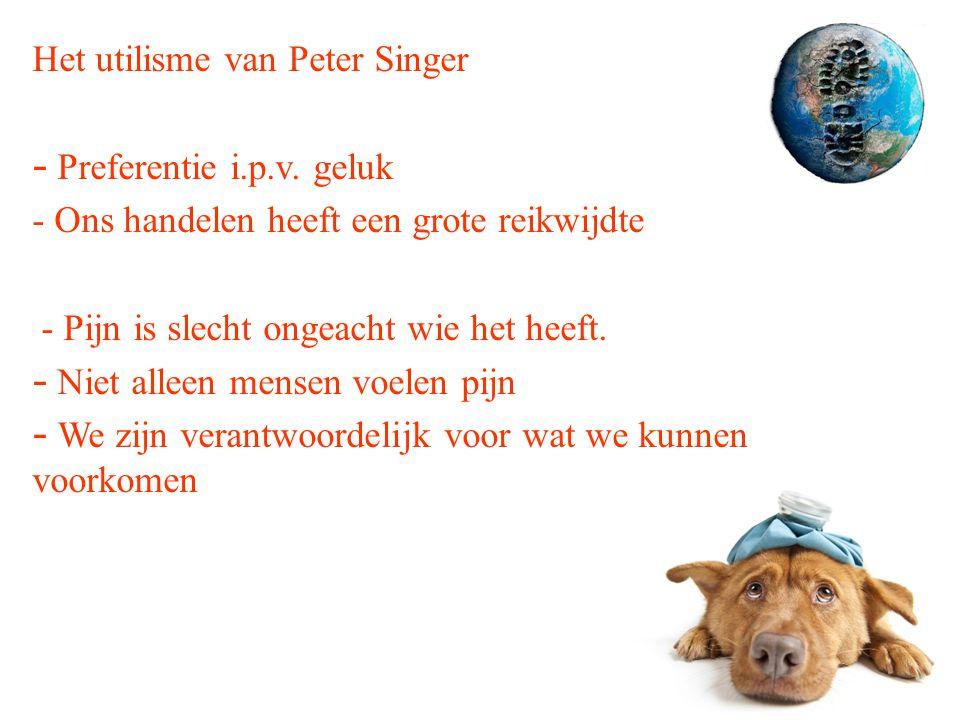 Het utilisme van Peter Singer - Preferentie i.p.v.