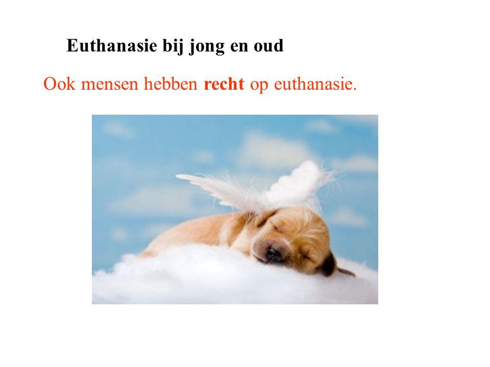 Ook mensen hebben recht op euthanasie. Euthanasie bij jong en oud