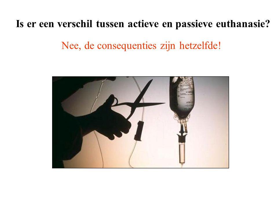 Is er een verschil tussen actieve en passieve euthanasie? Nee, de consequenties zijn hetzelfde!