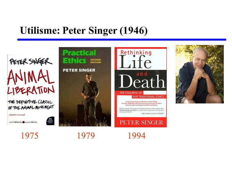Utilisme: Peter Singer (1946) 197519941979