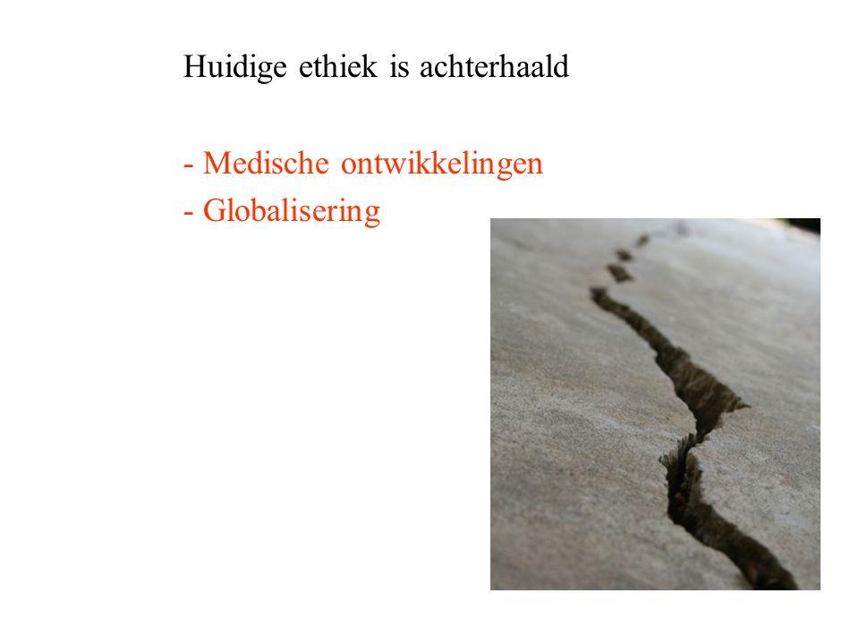 Huidige ethiek is achterhaald - Medische ontwikkelingen - Globalisering
