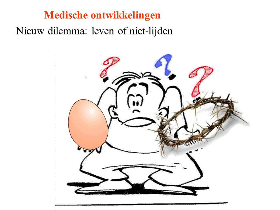 Medische ontwikkelingen Nieuw dilemma: leven of niet-lijden