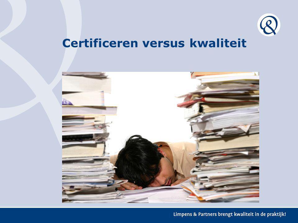 Opzetten kwaliteitsmanagementsysteem Wat betekent kwaliteit voor jou organisatie/afdeling/ werknemer.