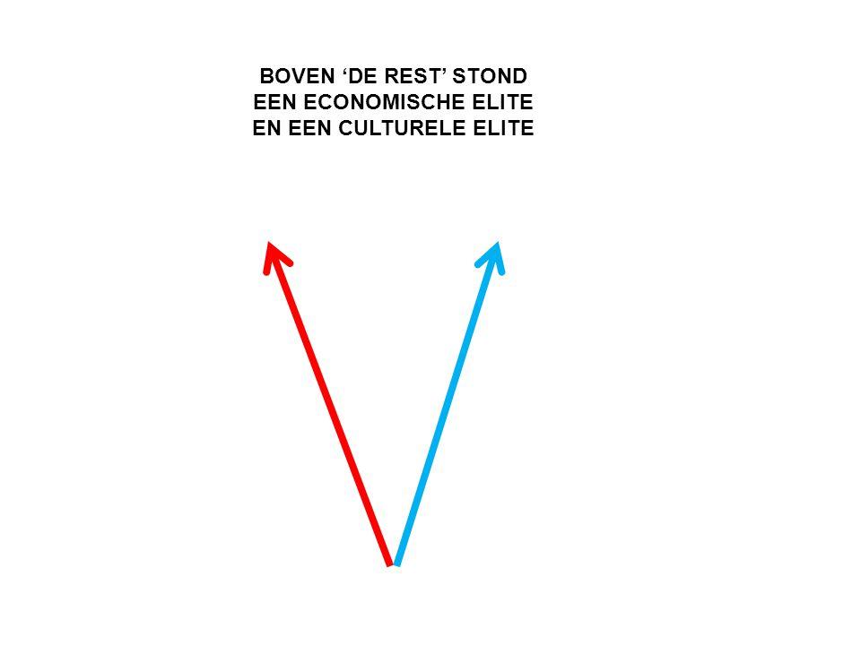 BOVEN 'DE REST' STOND EEN ECONOMISCHE ELITE EN EEN CULTURELE ELITE