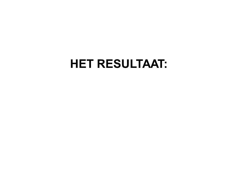 HET RESULTAAT: