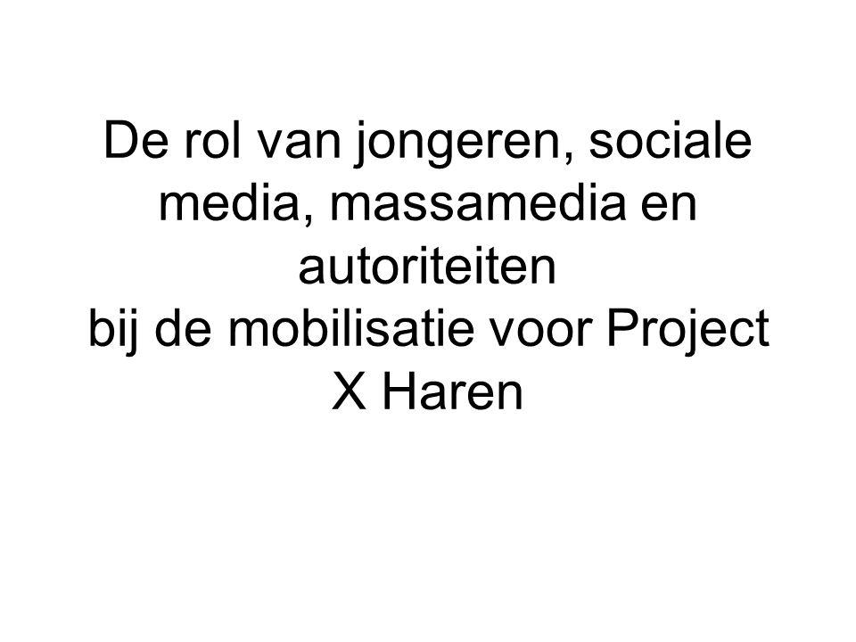 De rol van jongeren, sociale media, massamedia en autoriteiten bij de mobilisatie voor Project X Haren