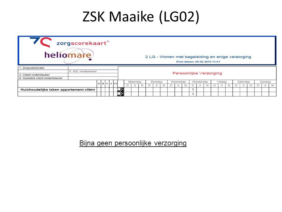 ZSK Maaike (LG02) Bijna geen persoonlijke verzorging