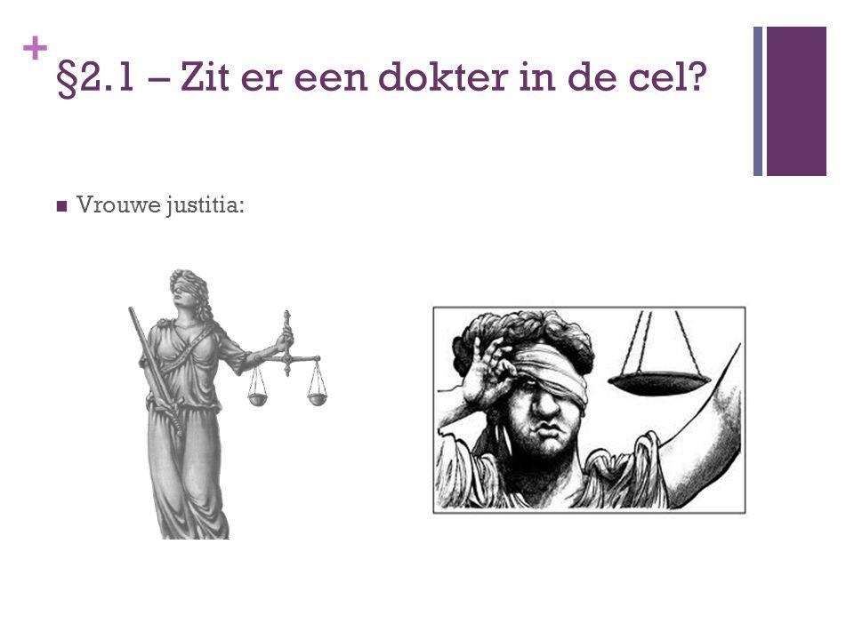 + §2.1 – Zit er een dokter in de cel? Vrouwe justitia: