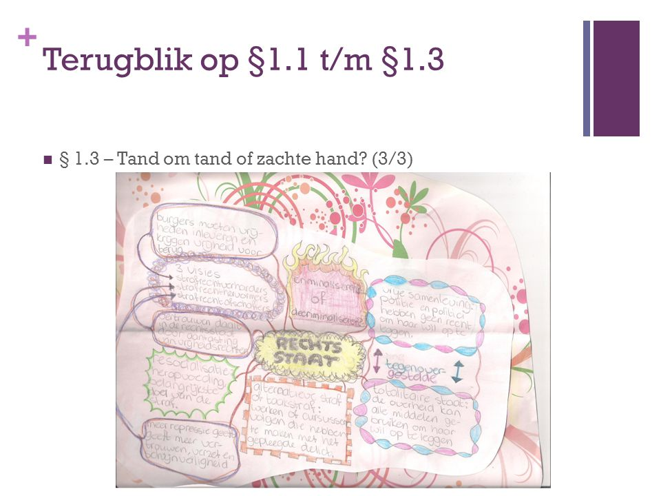 + Terugblik op §1.1 t/m §1.3 § 1.3 – Tand om tand of zachte hand? (3/3)