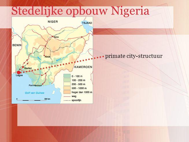 primate city-structuur Stedelijke opbouw Nigeria