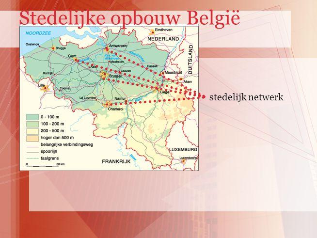 stedelijk netwerk Stedelijke opbouw België
