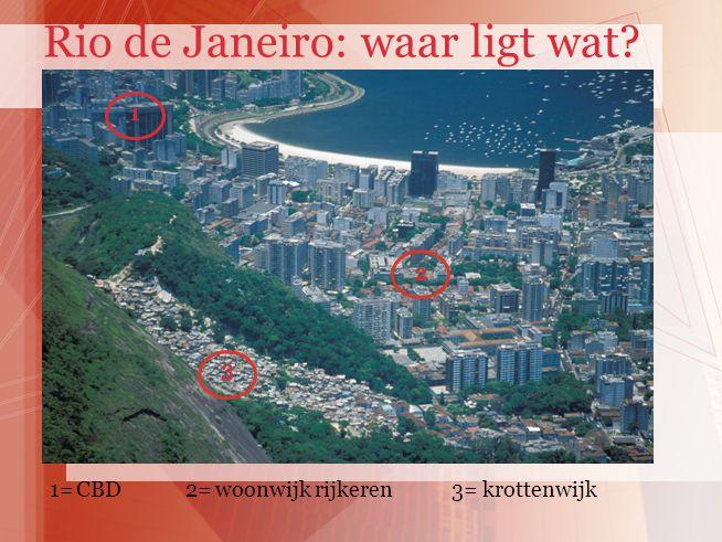 1 2 3 1= 2= 3= CBDwoonwijk rijkerenkrottenwijk Rio de Janeiro: waar ligt wat?