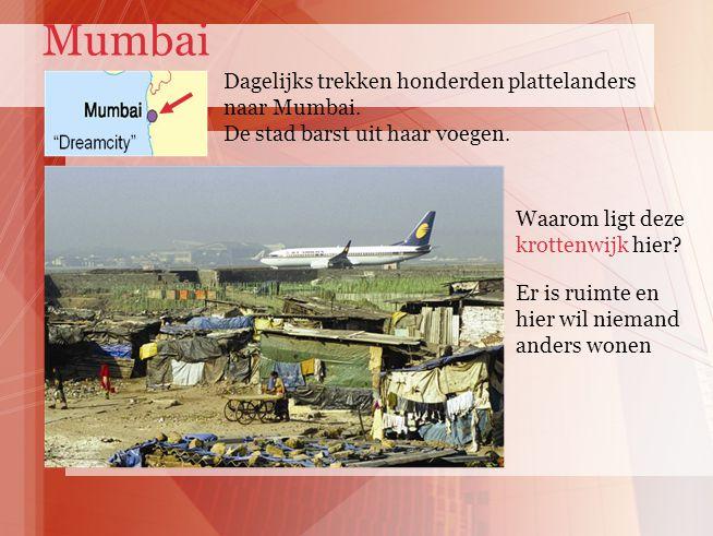 Dagelijks trekken honderden plattelanders naar Mumbai.