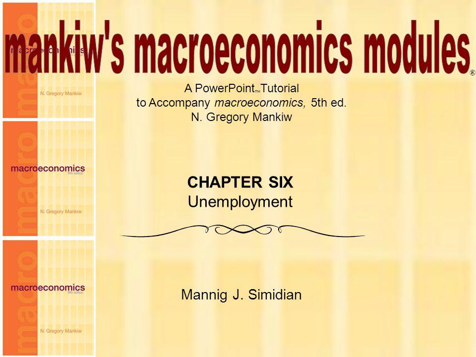 Chapter Six 2 Op lange termijn is er een zekere werkloosheidsgraad waar de economie naar tendeert L = E + U beroepsbevolking Werkenden werklozen Natuurlijke werkloosheidsgraad