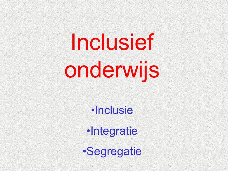 Belanghebbenden / stakeholders bij inclusief onderwijs Kinderen: Ambitie………………………………………….