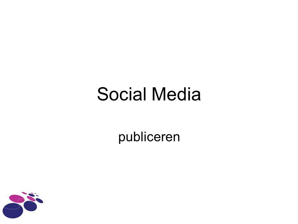 Social Media publiceren