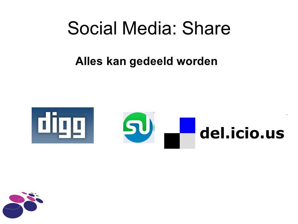 Social Media: Share Alles kan gedeeld worden