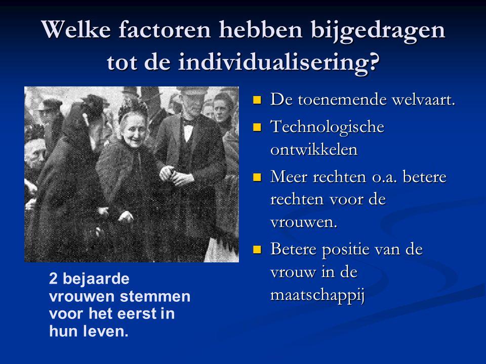 Welke factoren hebben bijgedragen tot de individualisering.
