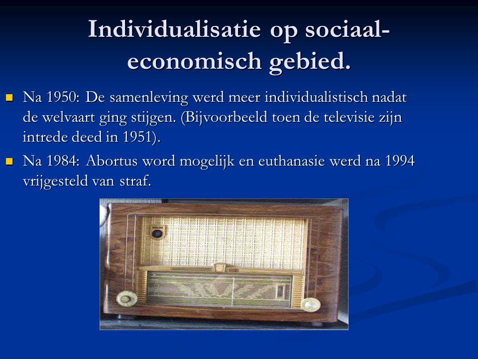 Individualisatie op sociaal- economisch gebied.