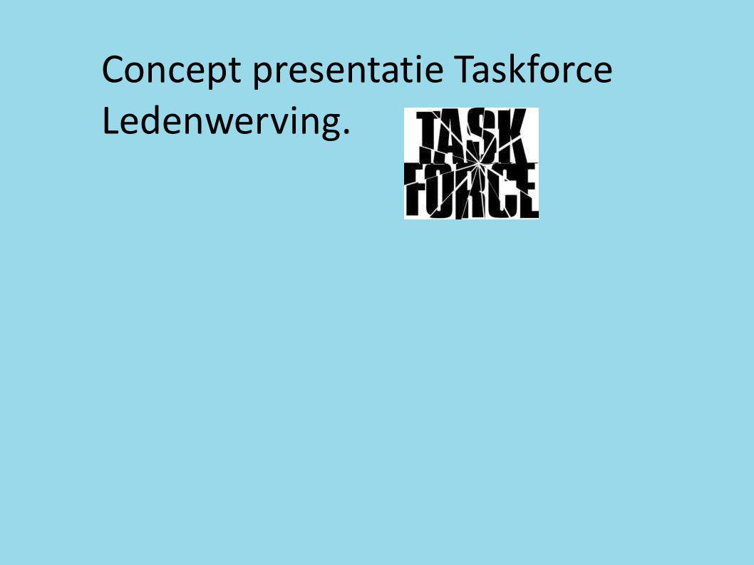 Concept presentatie Taskforce Ledenwerving.