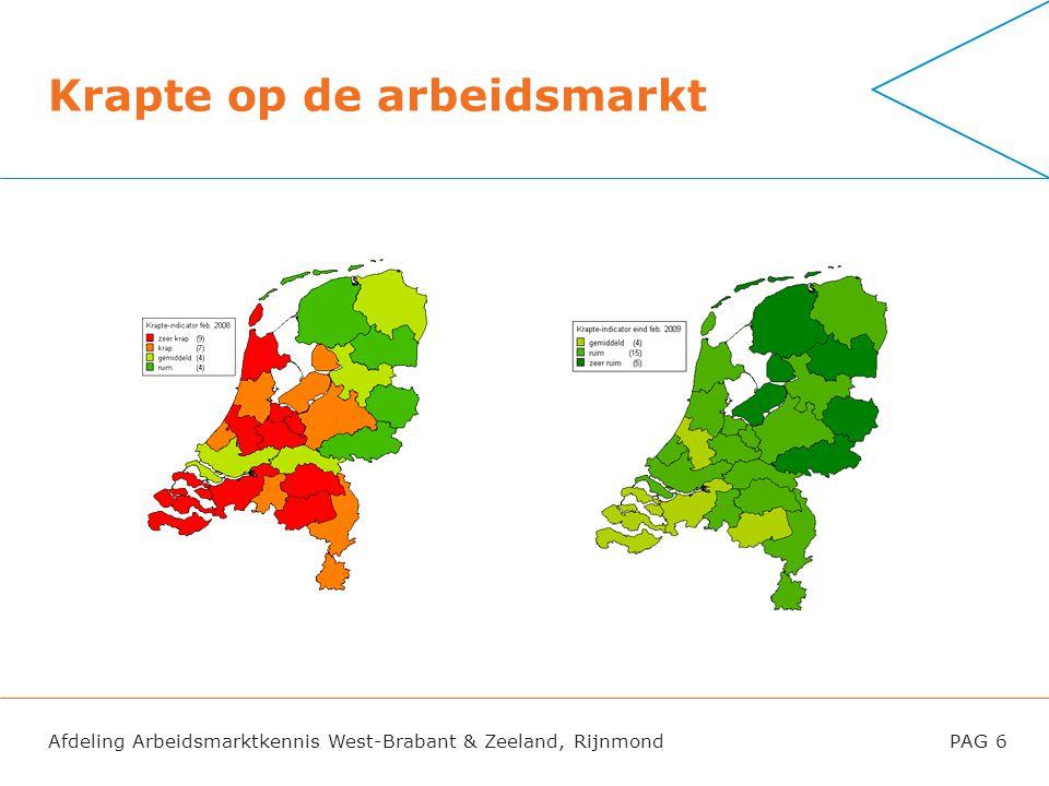 Afdeling Arbeidsmarktkennis West-Brabant & Zeeland, RijnmondPAG 6 Krapte op de arbeidsmarkt