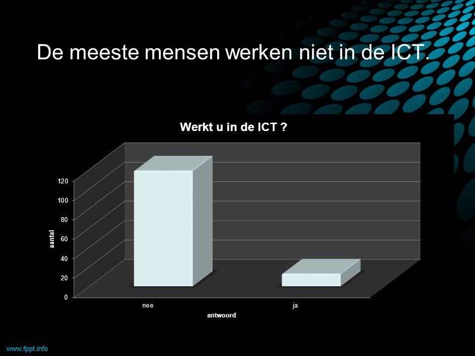 De meeste mensen werken niet in de ICT.