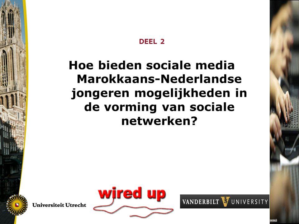 DEEL 2 Hoe bieden sociale media Marokkaans-Nederlandse jongeren mogelijkheden in de vorming van sociale netwerken