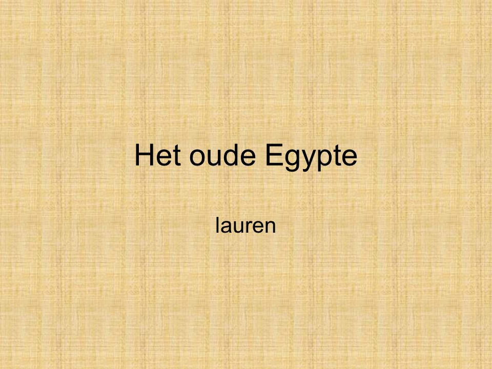 Het oude Egypte lauren