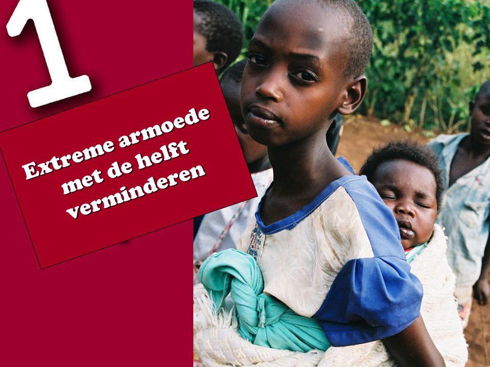 Extreme armoede met de helft verminderen