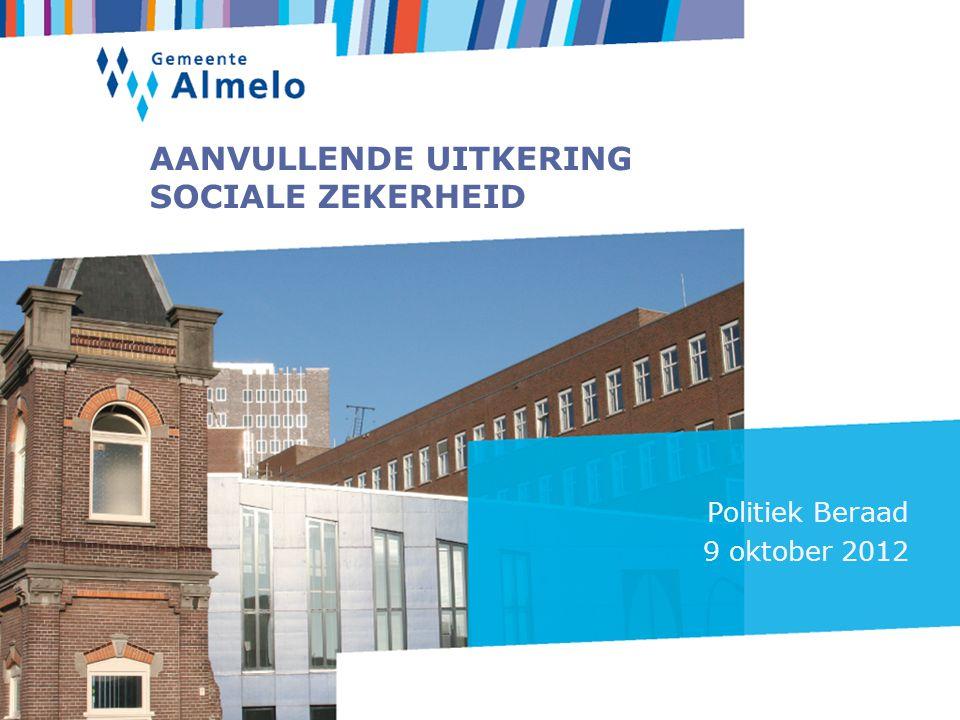 AANVULLENDE UITKERING SOCIALE ZEKERHEID Politiek Beraad 9 oktober 2012