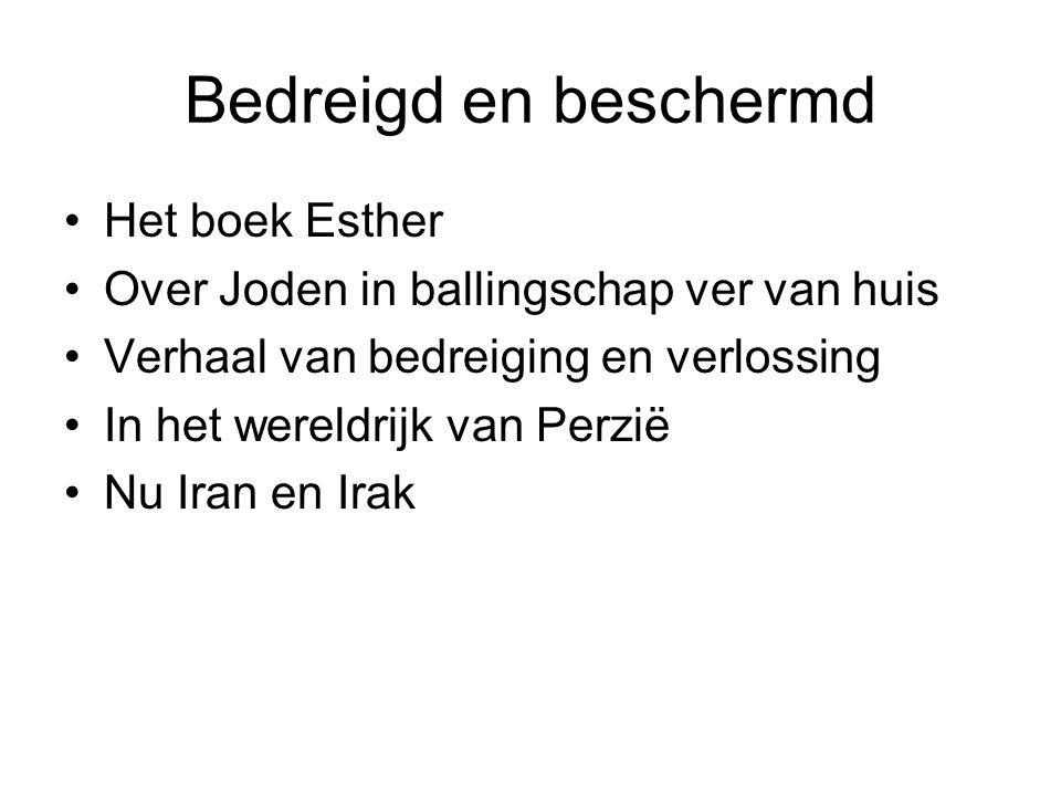 Bedreigd en beschermd Het boek Esther Over Joden in ballingschap ver van huis Verhaal van bedreiging en verlossing In het wereldrijk van Perzië Nu Iran en Irak