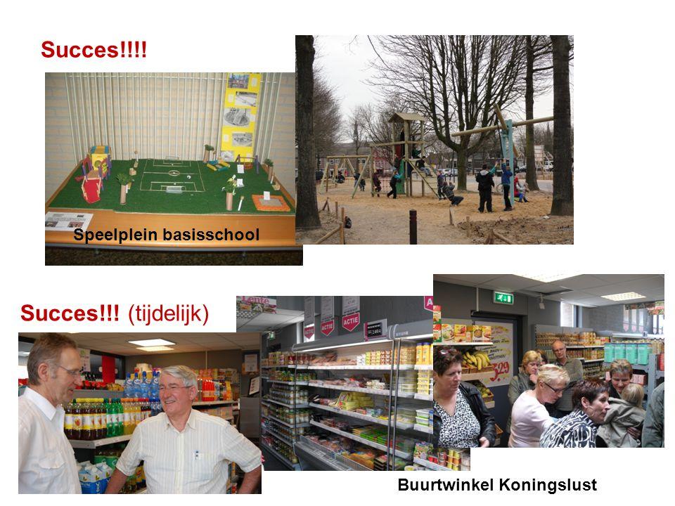Succes!!!! Succes!!! (tijdelijk) Speelplein basisschool Buurtwinkel Koningslust