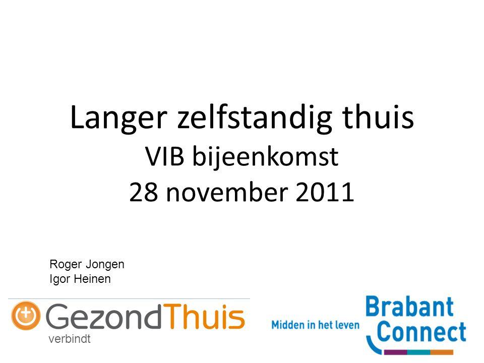 verbindt Langer zelfstandig thuis VIB bijeenkomst 28 november 2011 Roger Jongen Igor Heinen