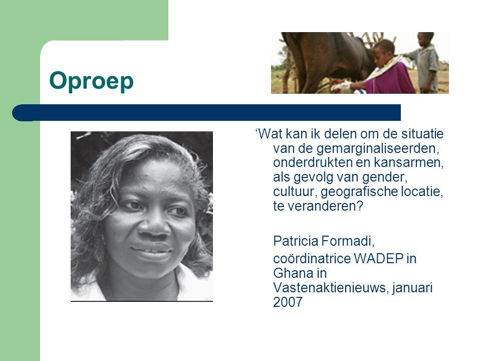 Oproep 'Wat kan ik delen om de situatie van de gemarginaliseerden, onderdrukten en kansarmen, als gevolg van gender, cultuur, geografische locatie, te