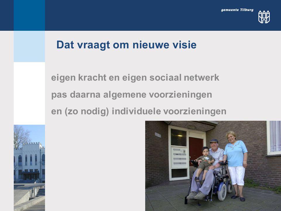 Individuele voorzieningen Algemene voorzieningen Eigen kracht en eigen sociaal netwerk