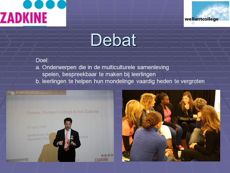 Debat Doel: a.