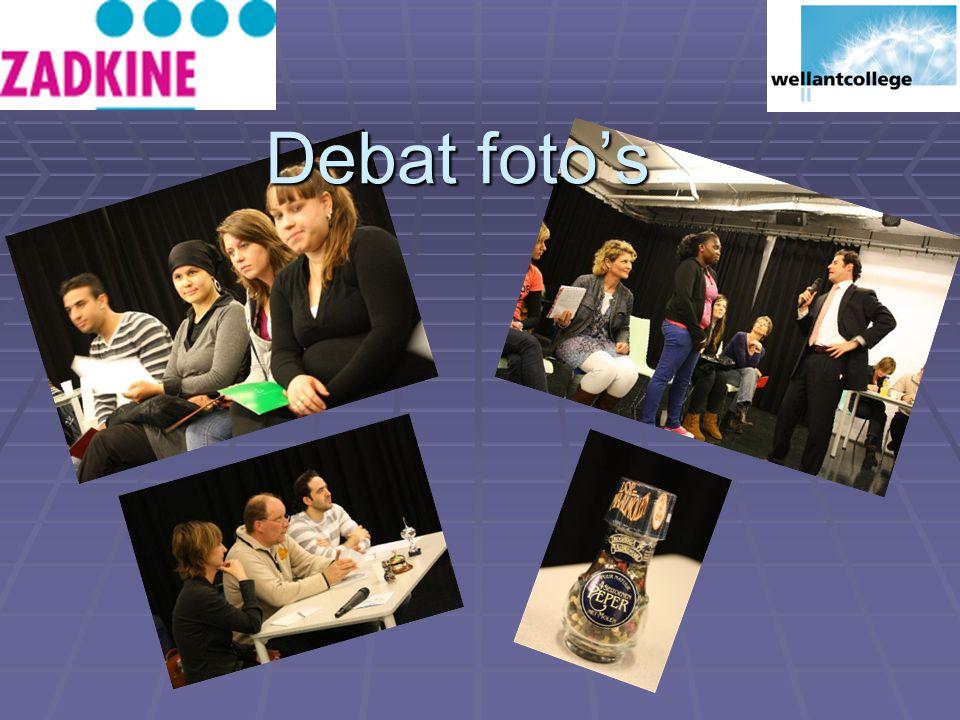 Debat foto's