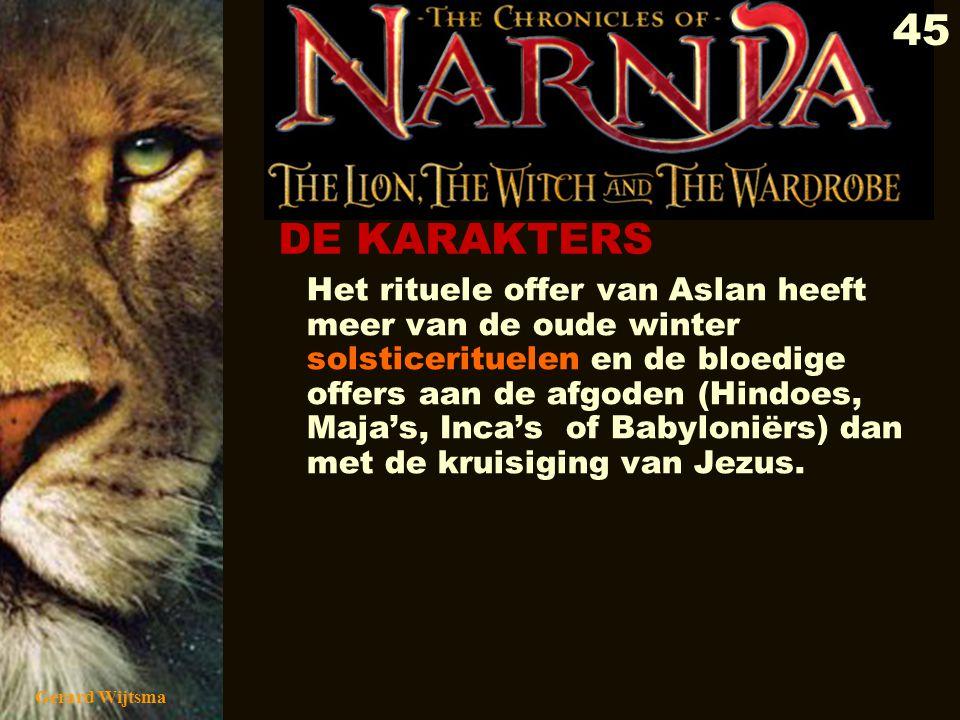 Gerard Wijtsma 46 Opvallend dat men in de film Narnia kiest voor een offersteen in de trant van Stonehenge, wat nu een verzamelplaats is voor de snelgroeiende wereldwijde neoheidense beweging.