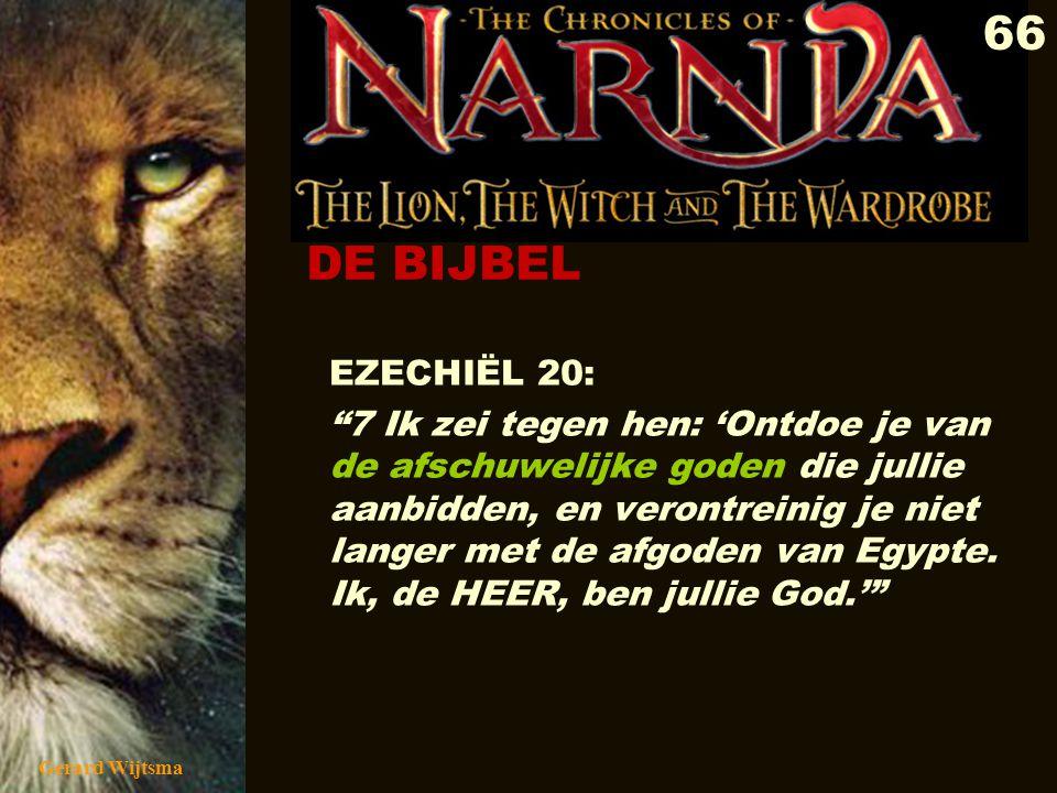 Gerard Wijtsma 67 Doortrokken van magie, toverij en occultisme Heidense afgoden/demonen vervullen positieve rollen in Narnia Vermenging van duisternis en licht Fascinatie voor het occulte (het kwade) staat gelijk aan verering van demonen.