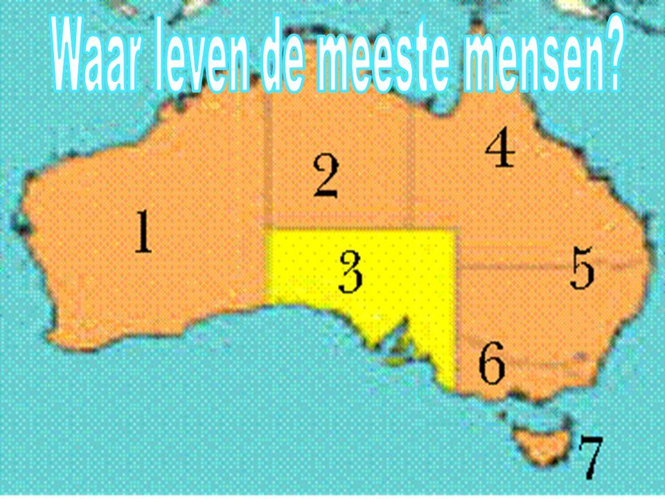 Het leven van de mensen Voedsel Aboriginals Waar leven de meeste mensen?
