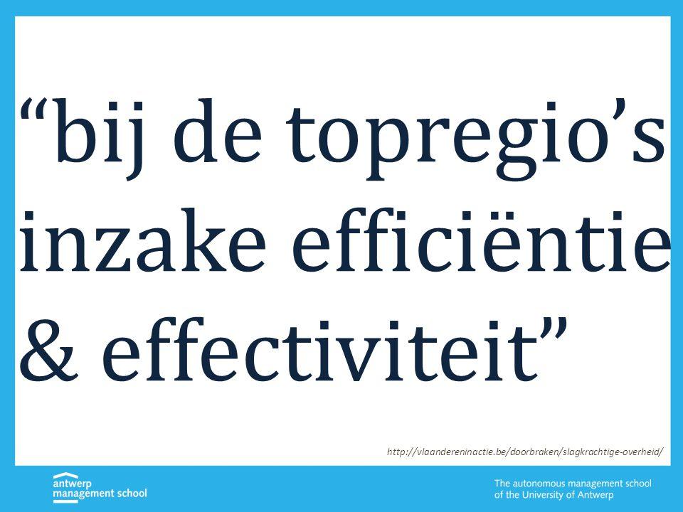 """""""bij de topregio's inzake efficiëntie & effectiviteit"""" http://vlaandereninactie.be/doorbraken/slagkrachtige-overheid/"""