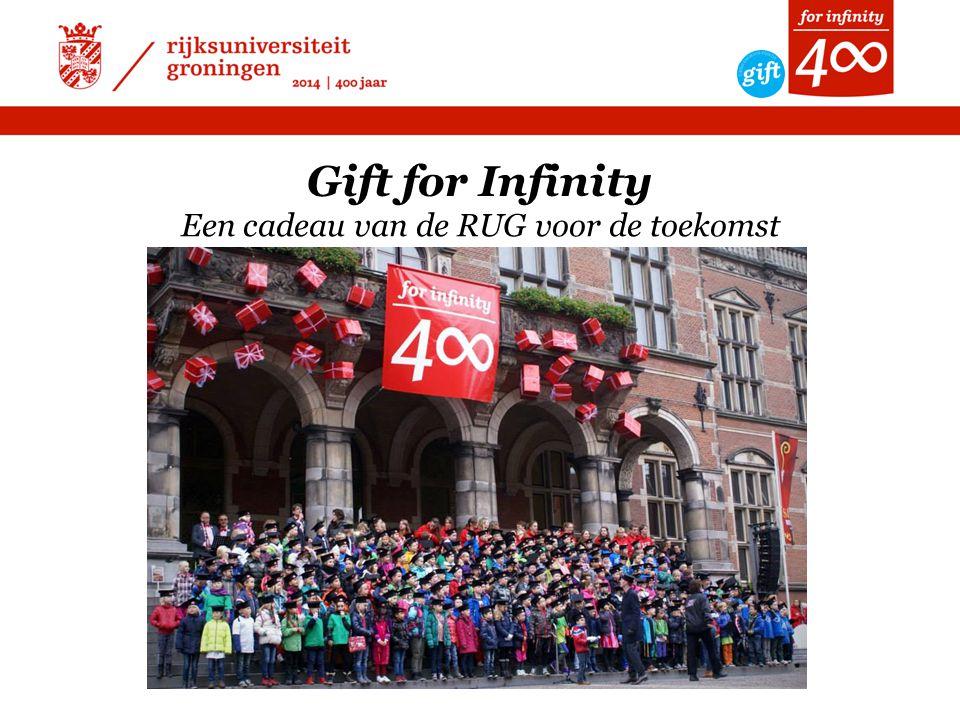 Gift for Infinity Een cadeau van de RUG voor de toekomst