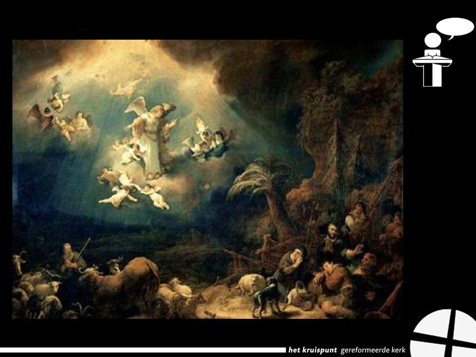 De engelenzang 1.In mensen welbehagen 2.Vrede op aarde 3.Eer aan God!