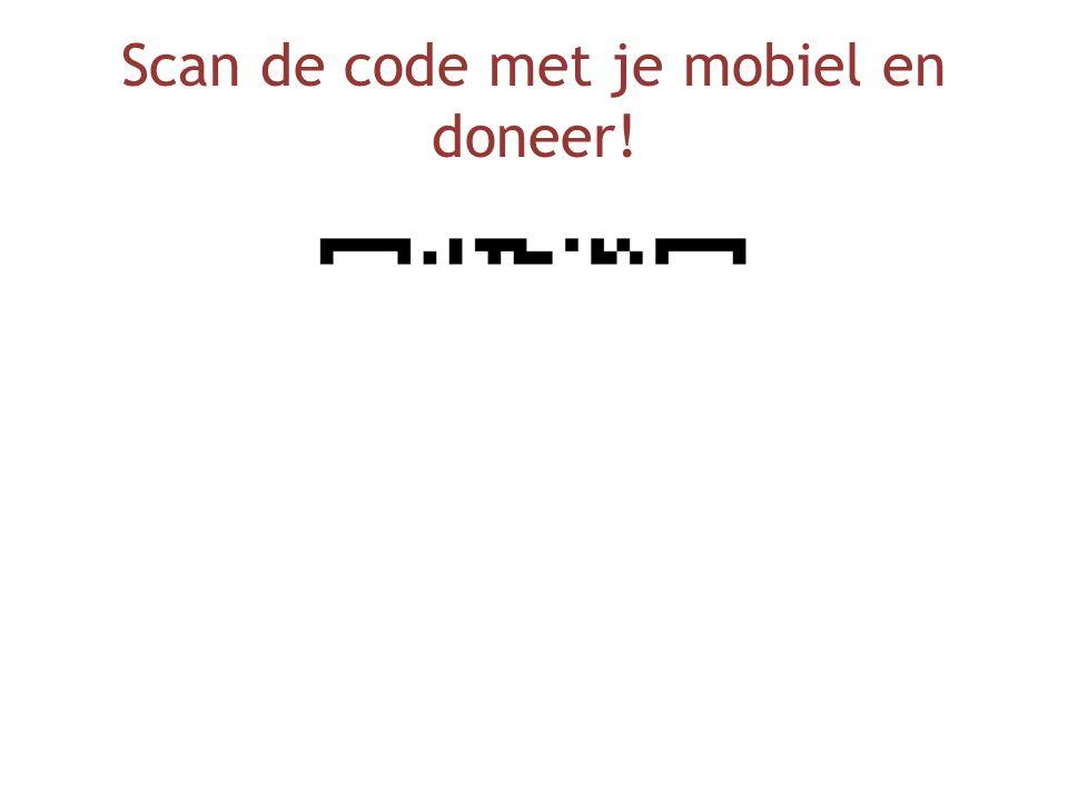 Scan de code met je mobiel en doneer!