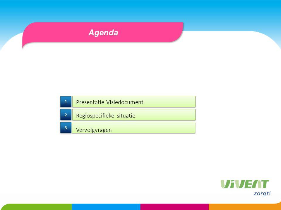 Agenda Presentatie Visiedocument Regiospecifieke situatie 3 3 2 2 1 1 Vervolgvragen