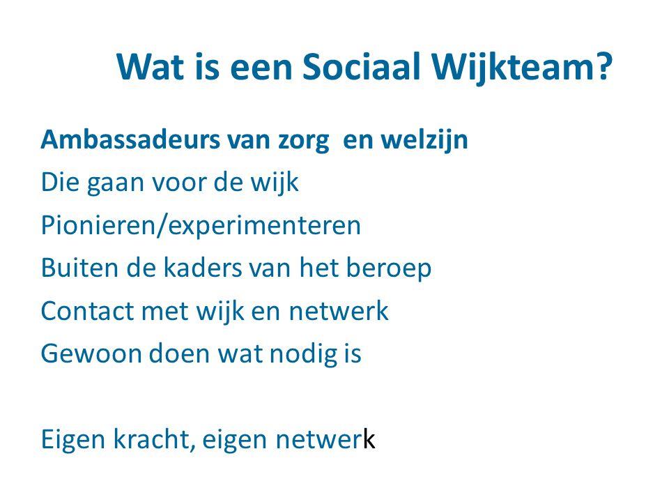 Sociaal Wijkteam en wijknetwerk!