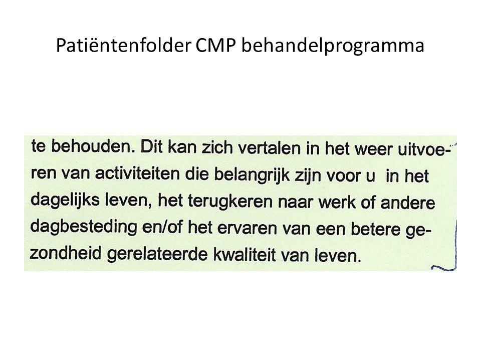 Patiëntenfolder CMP behandelprogramma